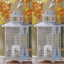 "15 SILVER SCROLLWORK CANDLE LANTERN CENTERPIECES 15""HIGH - €304,72 EUR"