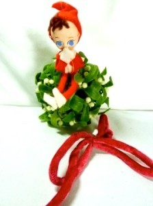 Primary image for Napco Pixie Mistletoe Kissing Ball Christmas Decor Hanging Ornament