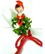 Napco Pixie Mistletoe Kissing Ball Christmas Decor Hanging Ornament - $10.95