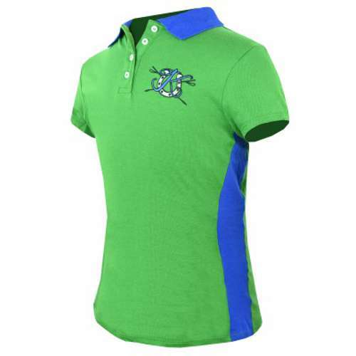 KAKI Kids Child Youth Signature Polo Green and Blue Size 4