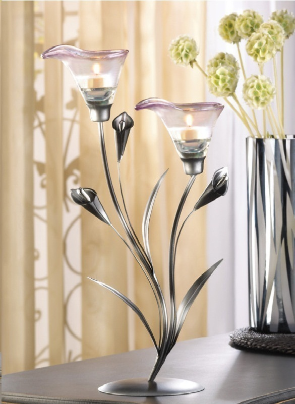 Primary image for 17 CALLA LILY CANDLE HOLDER WEDDING CENTERPIECES 15""
