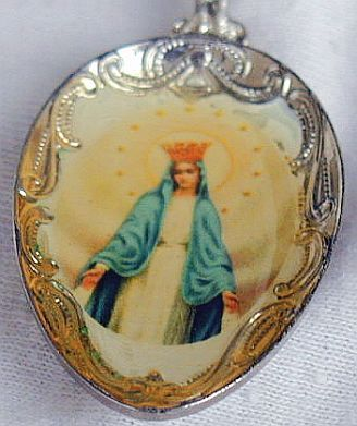 Antique teaspoon from czechoslovakia silver mary