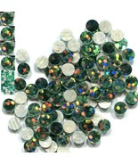HOLOGRAM SPANGLES Hot Fix EMERALD Iron on  3mm 1 gross - $3.74