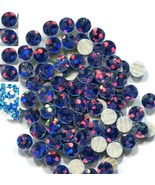 HOLOGRAM SPANGLES Hot Fix  PEACOCK  Iron on  10mm 1 gross - $5.24