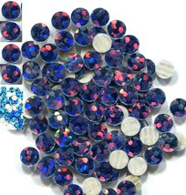 HOLOGRAM SPANGLES Hot Fix  PEACOCK  Iron on  4mm 1 gross - $4.34