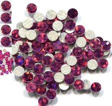 HOLOGRAM SPANGLES Hot Fix ROSE  Iron on 2mm 1 gross - $3.52