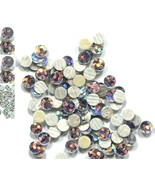 HOLOGRAM SPANGLES Hot Fix  SILVER  Iron on  3mm 1 gross - $3.74