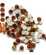 HOLOGRAM SPANGLES Hot Fix  TOPAZ  Iron on  10mm 1 gross - $5.24