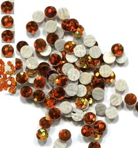 HOLOGRAM SPANGLES Hot Fix TOPAZ  Iron on 2mm 1 gross - $3.52