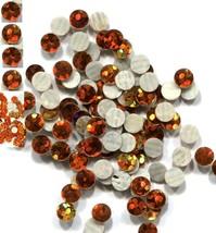 HOLOGRAM SPANGLES Hot Fix  TOPAZ  Iron on  6mm 1 gross - $4.72