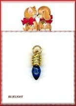 Holiday  Blue  LITE  NAIL ART DANGLE  Plus Bonus  Charm - $5.81