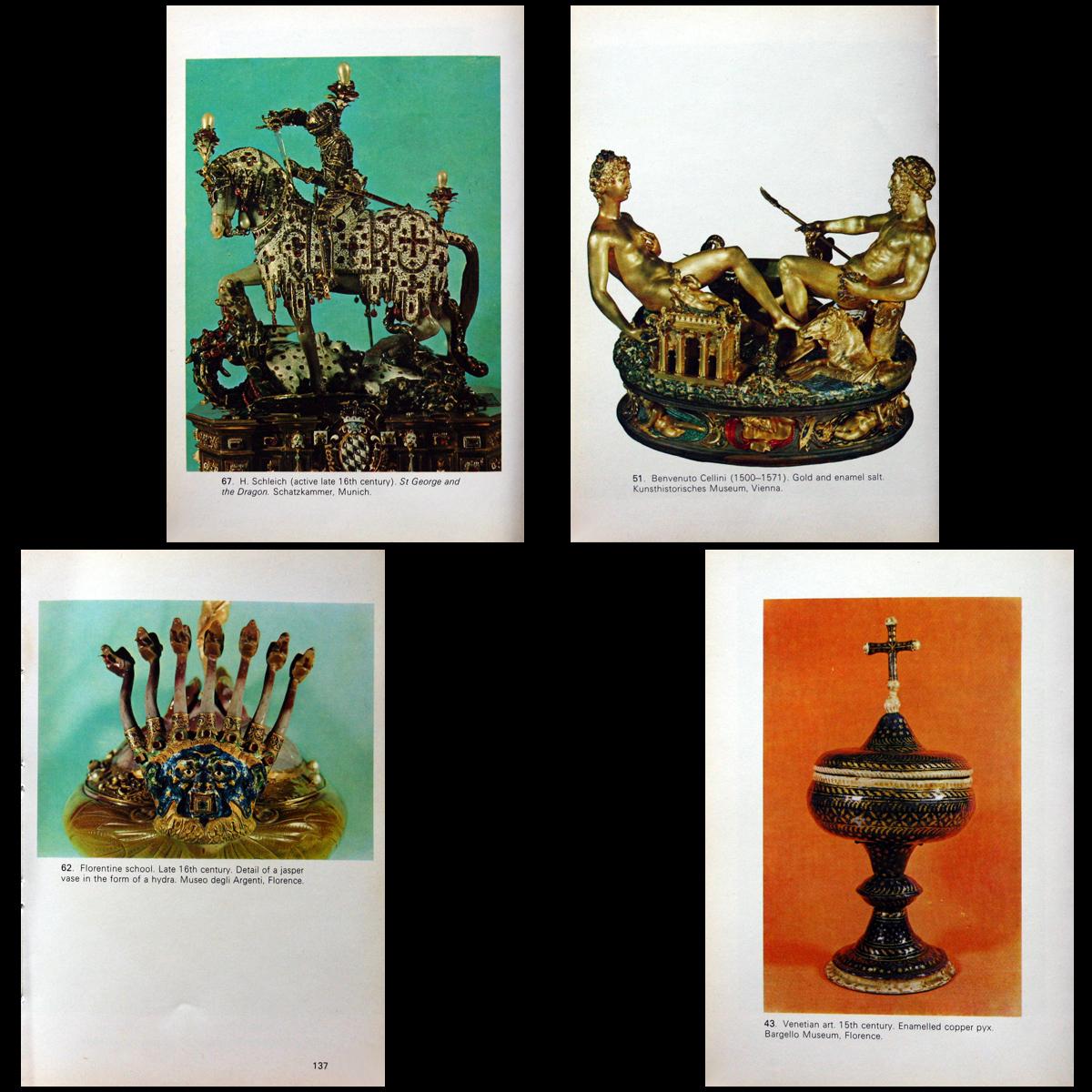 1969 European Enamels 71 Color Plates 6-18th Century