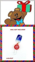 Holiday   Yum Yum  LOLLIPOP   Nail Art DANGLE  Charm - $5.81