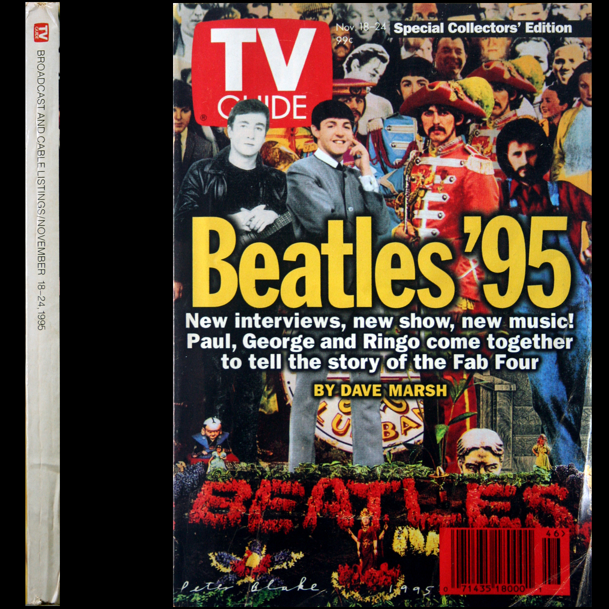 Primary image for 1995 TV Guide BEATLES Sgt. Pepper Cover