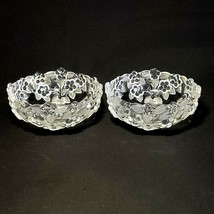 2 (Two) MIKASA CARMEN Frosted Crystal Fruit, Dessert, or Berry Bowls - 5... - $22.38