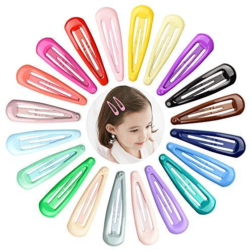 40 pcs Baby Color Snap Hair Clips with Candy Colors for Woman Baby Girl Snap Hai