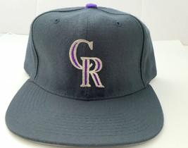 Rockies New Era Pro Model Vintage Baseball Snapback Hat Deadstock Wool NWOT - $29.69