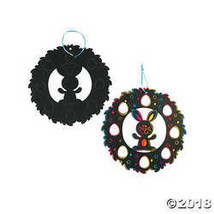 Large Magic Color Scratch Easter Wreaths - $8.74