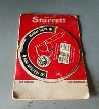 Starrett 1956 Machinist Dial Fraction-Decimal-Thread-Tap Guide - $12.55
