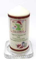 "Personalised 1st Christmas Baby Boy or Girl Photo Candle 6"" ! Cellini Ca... - $19.18"