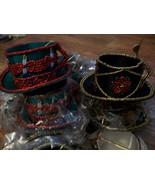 8 Beaded Holiday TEA CUP & SAUCER Christmas Decor Ornaments  - $24.00