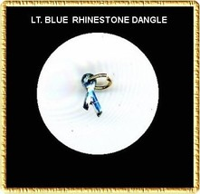 LT. BLUE Rhinestone RIBBON  Nail Art Dangle Jewelry - $3.94