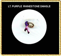 LT PURPLE  Rhinestone RIBBON  Nail Art Dangle Jewelry - $3.94