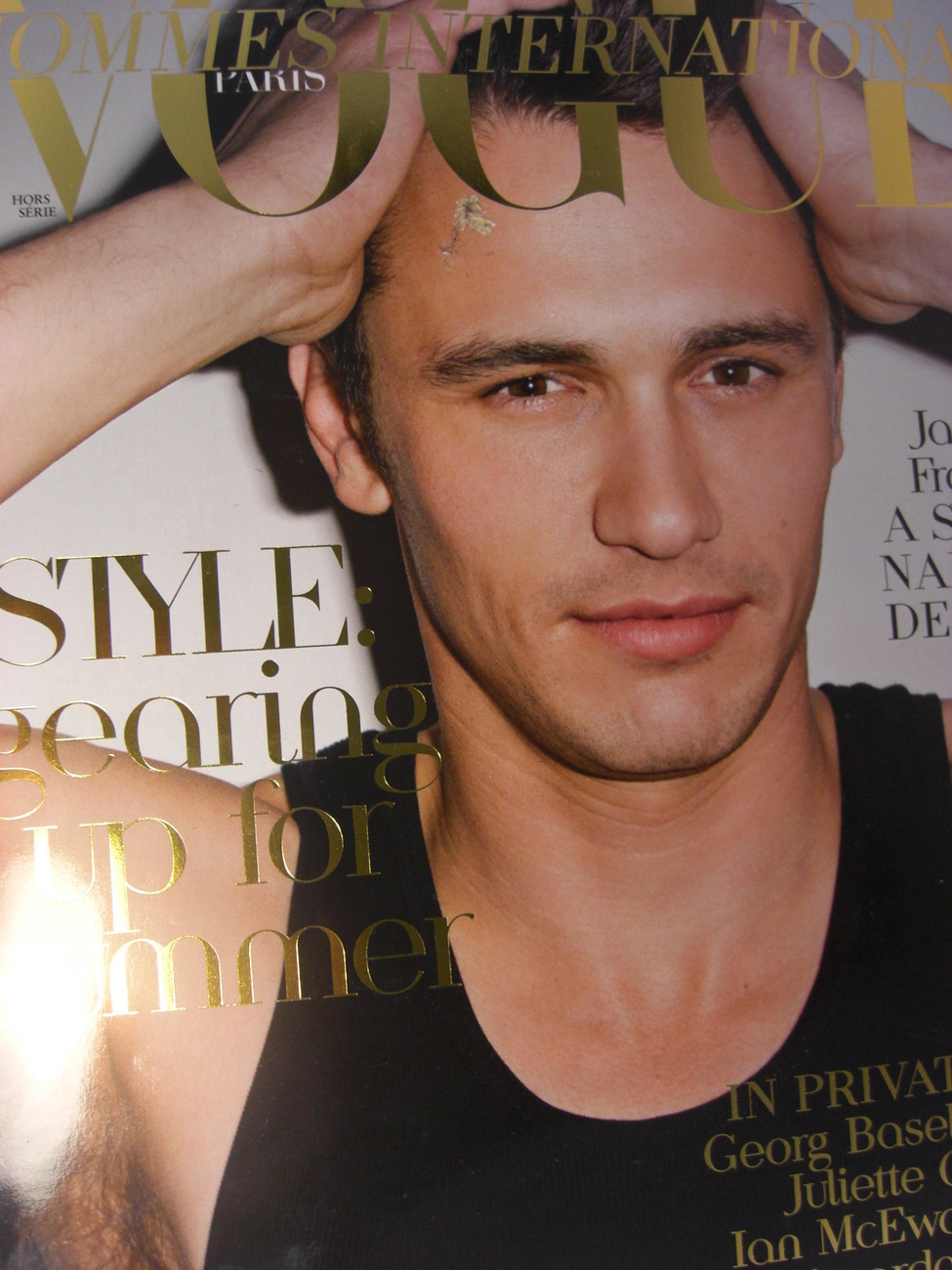 VOGUE Magazine HOMMES INTERNATIONAL March 2011 James ...