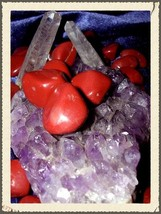 3 Red Jasper Gemstones Personal Courage & Protection Metaphysical haunted NW611 - $9.99