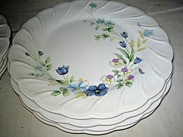 "4 NIKKO Blue tulip Salad Plates 7 3/4"" - $19.99"