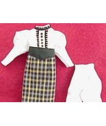 Dress Heidi Ott Dollhouse Lady Clothing Leg o Mutton Sleeves Miniature 1:12 - $48.75