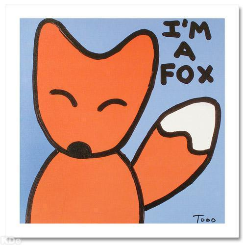 TODD GOLDMAN ART I AM A FOX LIMITED EDITION SIGNED NEW