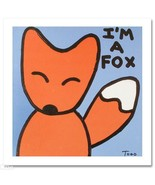 TODD GOLDMAN ART I AM A FOX LIMITED EDITION SIGNED NEW - $392.50