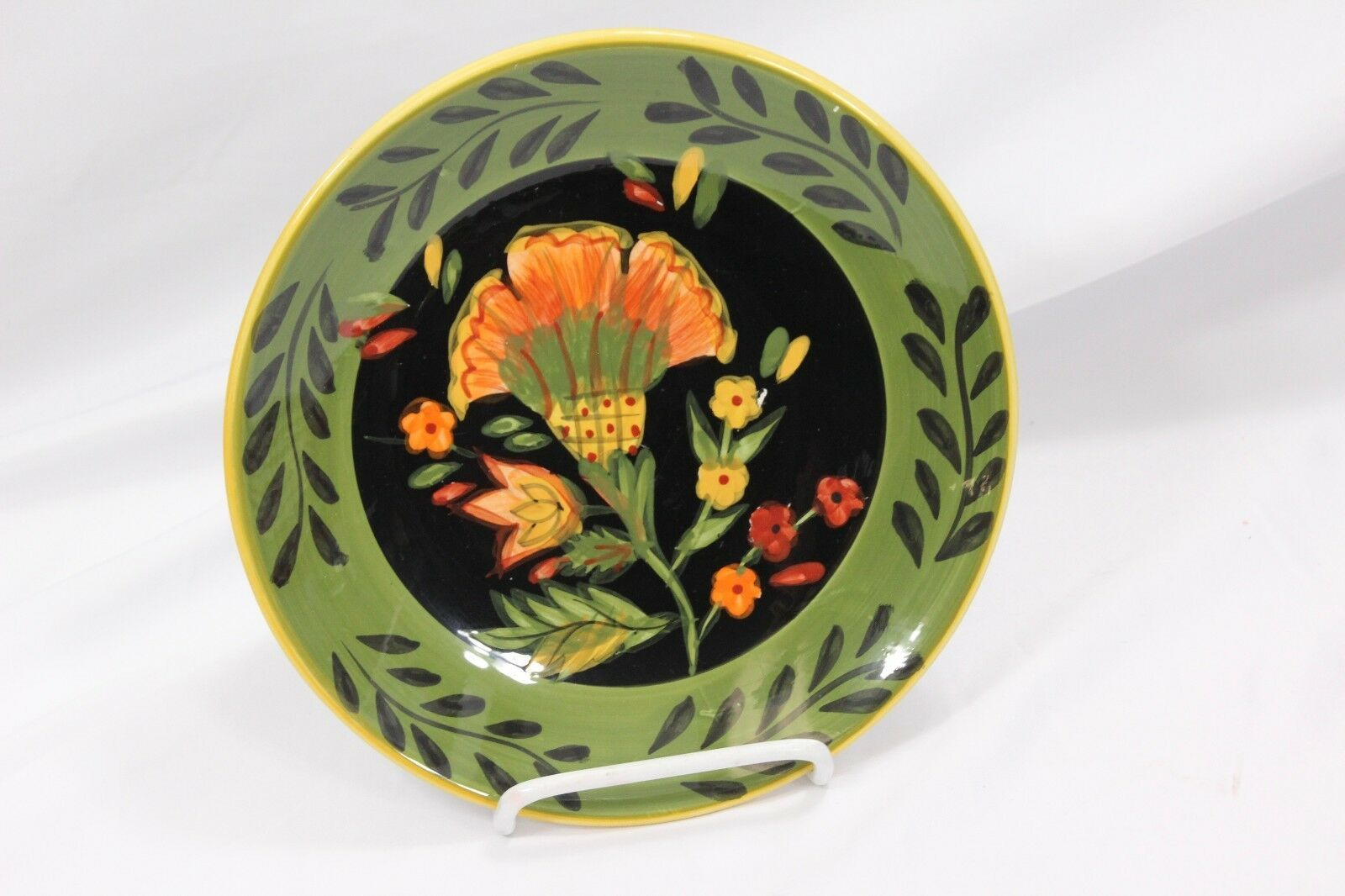 222 Fifth Arabian Flower Dinner and Salad Plates Lot of 11 Hand Painted image 8