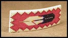 NAVAJO Hand made BEADED HAIR CLIP  PONY TAIL HO... - $29.03