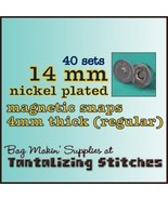 40 Nickel 14 mm Regular Magnetic Snap Closures - $9.84