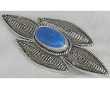 Blue agate brooch 1 thumb155 crop