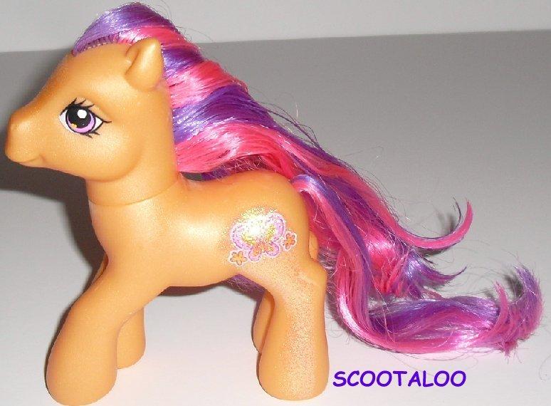 G3 Hasbro My Little Pony MLP SCOOTALOO w/glitter