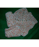 Crocheted Dish Clothes Cotton Set 2 Peach Tan Cream Bernat 100 Percent C... - $5.70