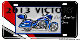 2013 Victory Cross Country Tour Aluminum License plate - $13.81