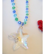 Large Glass Starfish Pendant Necklace - $14.99