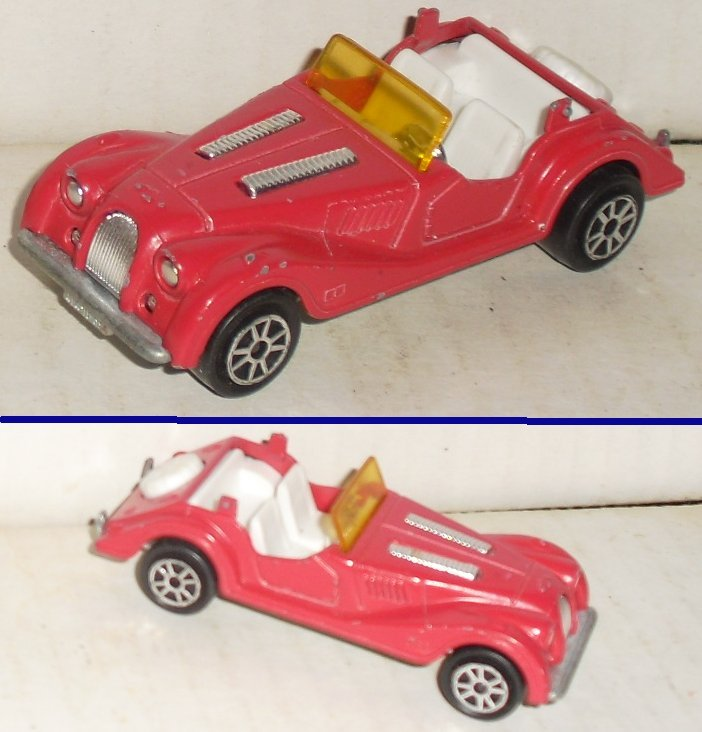 MAJORETTE 1/50 Toy Car MORGAN made in FRANCE NO roof