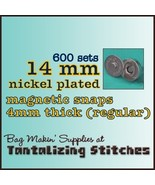 600 Nickel 14 mm Regular Magnetic Snap Closures - $121.64
