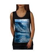 New Wave Sea Ocean Nature Tee Surf Time Women Tank Top - $12.99
