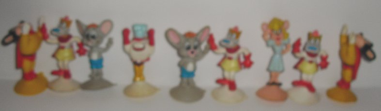 MIGHTY MOUSE lot of 9 PVC figures fast food toys Wendys