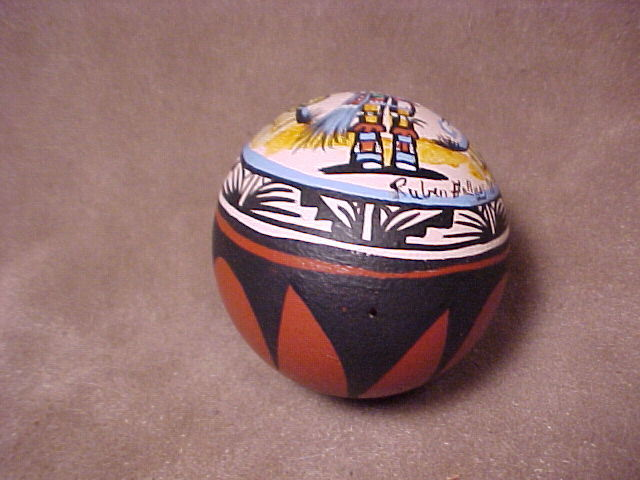 NAVAJO Native American Pueblo Indian Unique Painted  REAL EGG SHELL # 114EGG