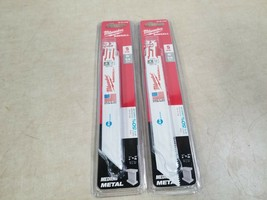 "Lot of 2 Milwaukee SawzalI IceEdge  6""  14 TPI Reciprocating Saw Blades ... - $13.30"