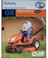 2007 Kubota GR2010, GR2110 Lawn-Garden Tractors Brochure - $7.00