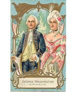 Martha and George Washington 1909 Vintage Post Card  - $7.00