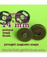 600 Antique Brass 14 mm Regular Magnetic Snap Closures - $121.64